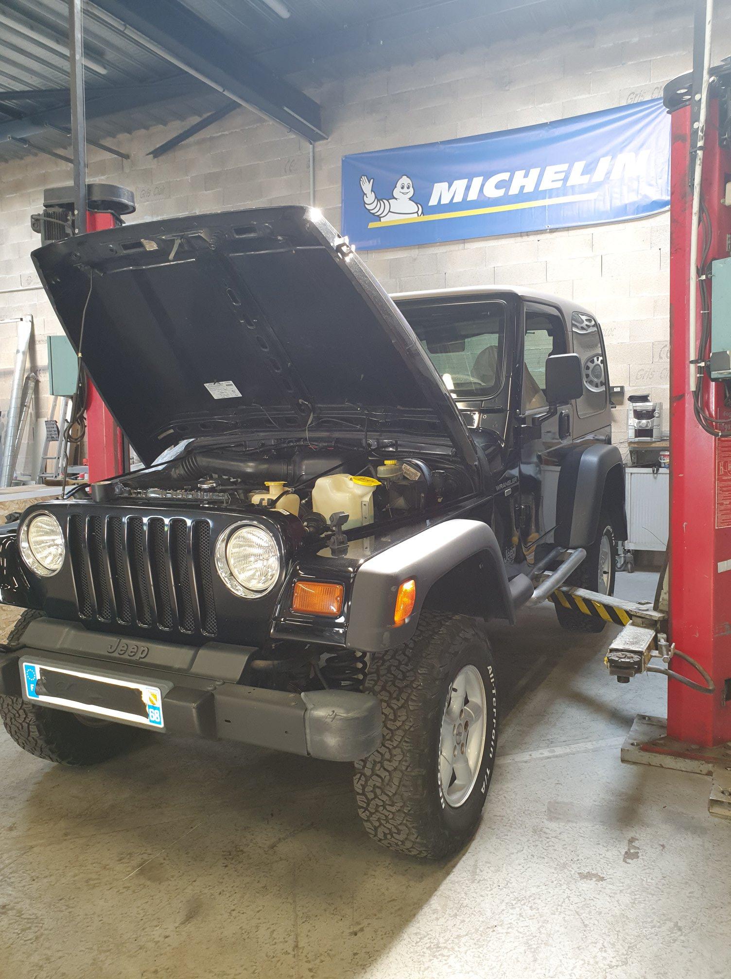 Entretien avant contrôle technique pour une Jeep réalisé par le garage JR MOTORS à Sausheim.